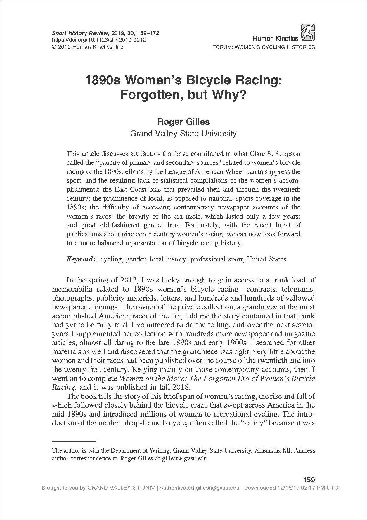 First page of article by Roger Gilles